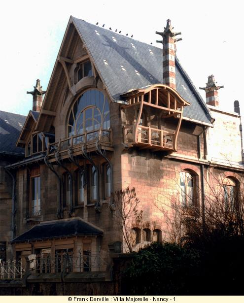 Majorelles house is certainly the best an building in nancy it was built by the parisian architect sauvage in 1900 this house is an art nouveau manifesto