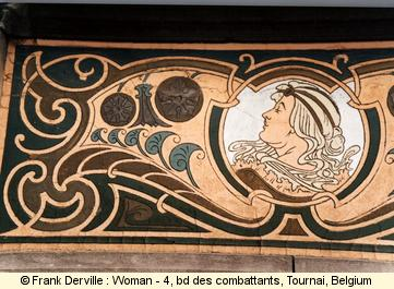 Art Nouveau woman in Tournai
