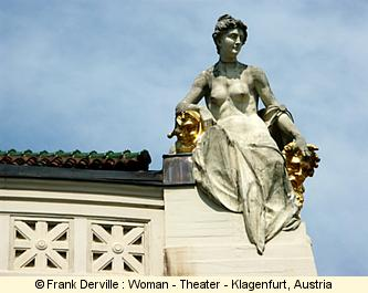 Art Nouveau woman in Klagenfurt