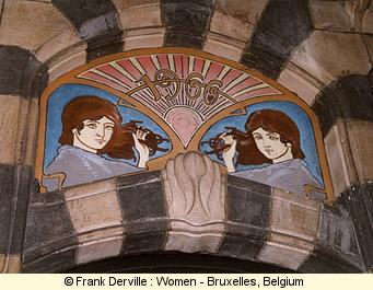 Art Nouveau woman in Bruxelles