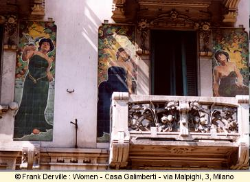 Art Nouveau woman in Milano