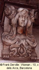 Art Nouveau woman in Barcelona